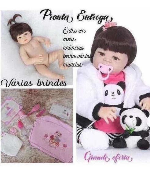 Doll Reborn Menina Realista, Corpo Todo Silicone. Pe