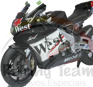 Adesivo Personalização Moto Gp Honda West Cbr E Comet Gtr