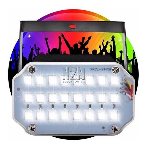 Flash Led Audioritmico 10w Strobe Rgb Luces Dj Boliche Fiestas