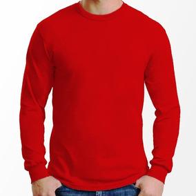 Camiseta Manga Longa Algodão 100% Básica Lisa Camisa Blusa