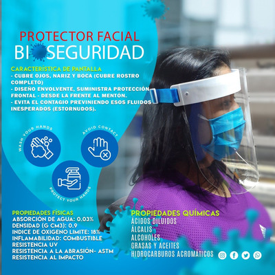 Protector Facial - Acrílico 2mm.