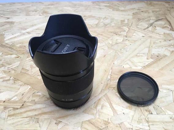 Lente Sony 28mm F2 Com Filtro Nd Variável