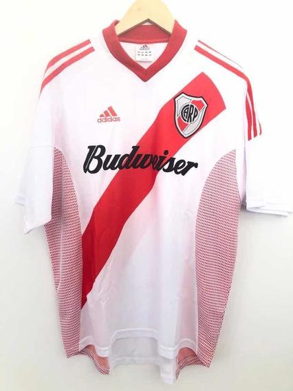 River Plate Arg adidas Budweiser Unif.1 2002 Perfeita G Nova