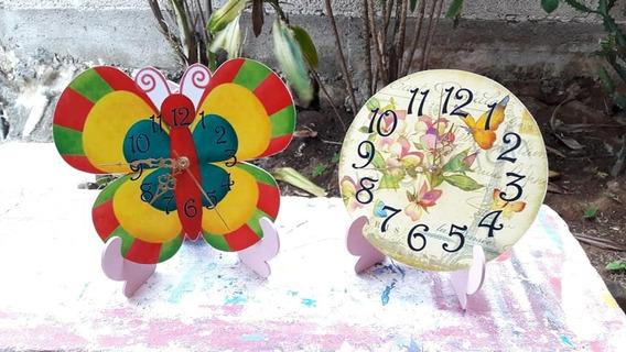 10 Centros De Mesas Reloj Mdf Infantiles Vampirina Frozen