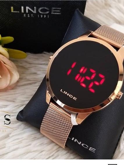 Relógio Digital Lince Folheado