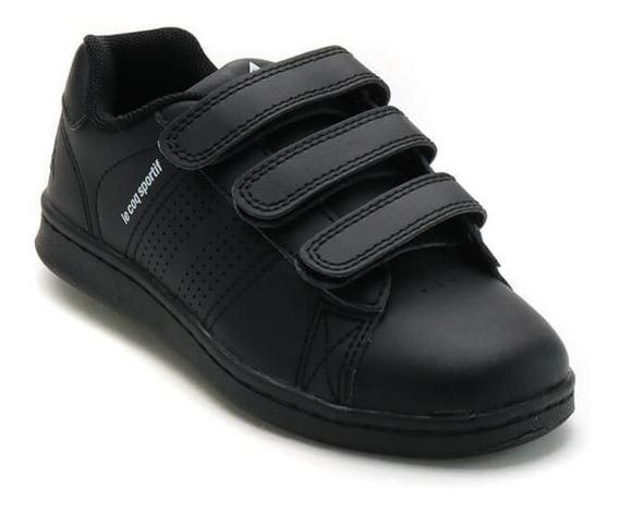 Zapatilla Infantil Lecoq Sportif Sculi Strap Black