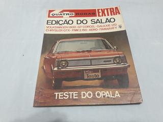 Revista Quatro Rodas 101 Dez/68 Edição Do Salão Do Automovel