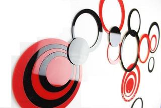 Sticker 3d Para Pared Elegantes Circulos Acrilico Set De 5