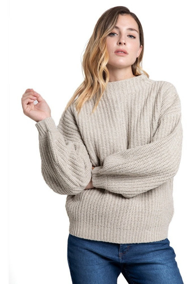 Sweater Mujer Rusty Essence Feather Grey