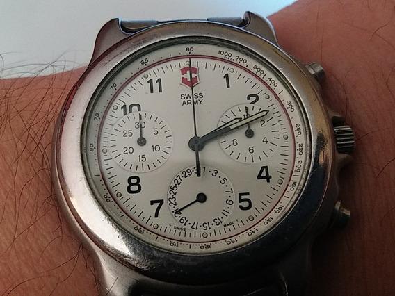 Relogio Cronografo Swiss Army Aço Vintage Funcionando