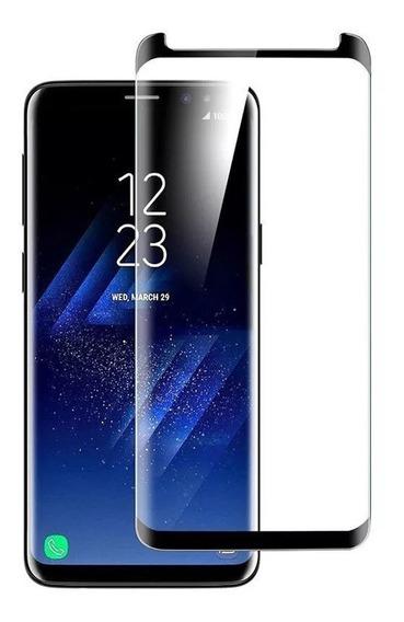 Pelicula De Vidro Samsung Galaxy S9+ Curvada Com Borda Preta