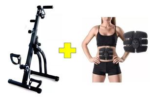 Bicicleta Dual Fija Ejercitador Portátil + Electro Estimulador