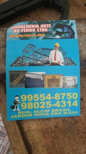 Imagem 1 de 2 de Serralheria Arte No Ferro!