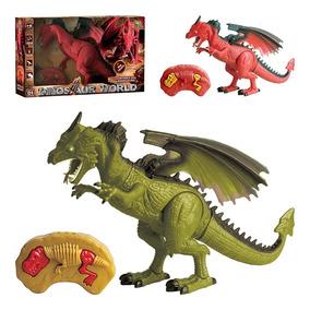 Dinossauro Dragao Controle Remoto Robossauro Com Luz E Som