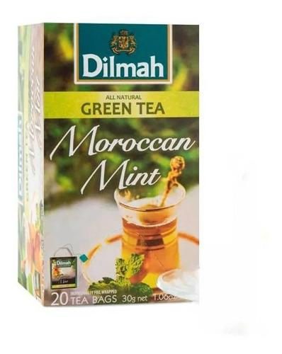 Té Verde Dilmah Moroccan Mint Menta Importado Sri Lanka 20 U