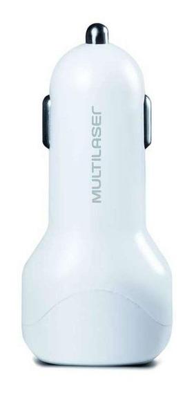 Carregador Automotivo Concept 2 Portas Usb I-smart Branco Multilaser - Cb115