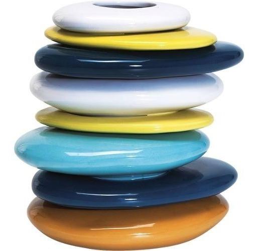 Florero Pebbles Colore 20 Cm Kare (33042)