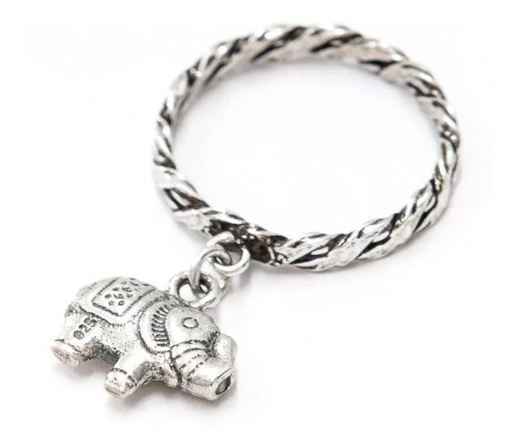 Anel Prata 925 - Trançado - Elefante