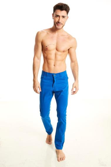 Outside Tokyo Pantalon Gabardina Azul Francia Hombre #3555