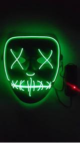 Mascara Led Neon Filme Uma Noite De Crime(the Purge) Chegou
