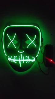 Mascara Led Neon Festa Balada Rave Halloween Cosplay