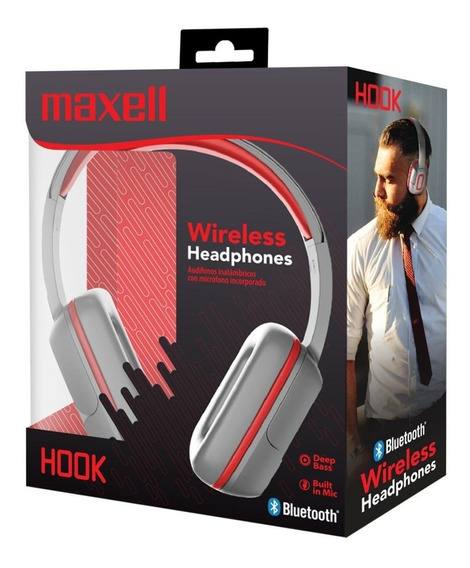 Maxell Audifo Eb-bt300 Bluetooth Hook Red/silver