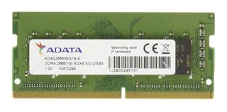 Memoria RAM 8GB 1x8GB Adata AD4S266638G19-S
