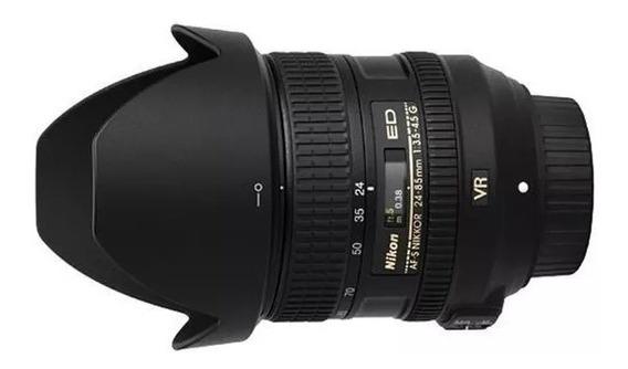Nikon Lente 24-85 Vr Semi Nova 6k Click