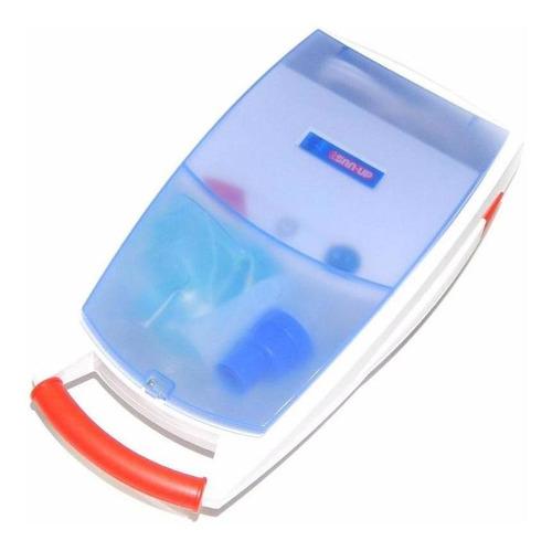 Imagen 1 de 2 de Nebulizador A Pistón San-up Plus Ii Blanco Y Azul 220v