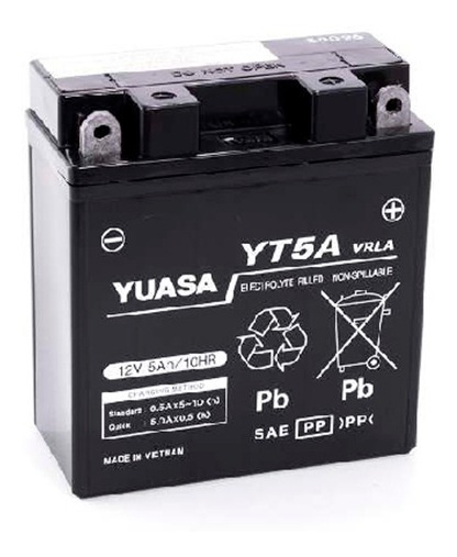 Bateria Yuasa Yt5a Gel = Yb5l-b Yuasa 107104