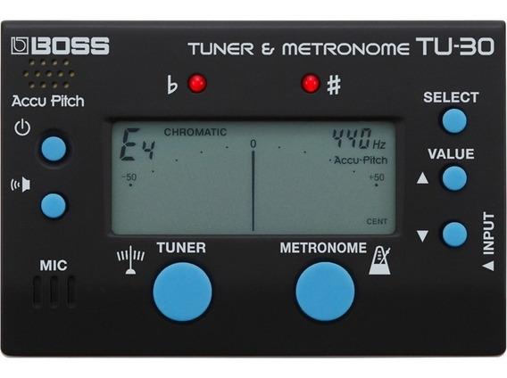 Afinador Boss Metrônomo Tu30 Cromático Digital De Guitarra .