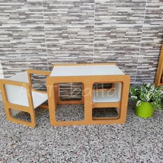 Mesa Con Sillas Montessori, Silla Montessori Sin Pintar