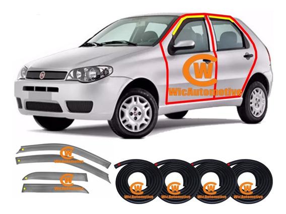 Kit Borrachas Porta Calha De Chuva Fiat Palio Siena 1