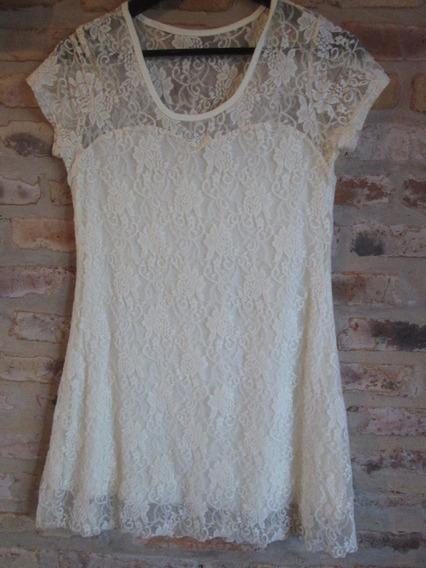 Vestido Encaje Mujer - Talle S.