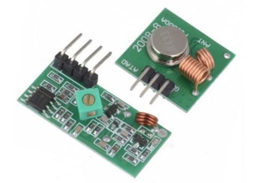 Pareja Rf Transmisor Y Receptor De 433mhz Arduino Robotica