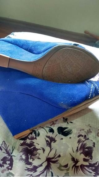 Sapato Beira Rio Azul Lindo