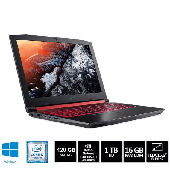 Notebook Gamer Acer Nitro 5 Ssd M2 120gb 1tb I7 16gb 1050ti