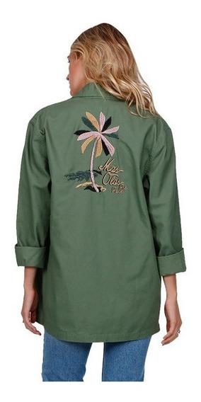 Camisa Billabong Coastal Dawn Verde Militar Mujer