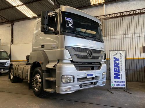Imagem 1 de 15 de Caminhão M.benz Axor 2036 S 4x2 2012 Aut. Un.dono Rodas Alum