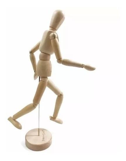 Boneco Manequim De Madeira Articulado Desenho Arte 20cm