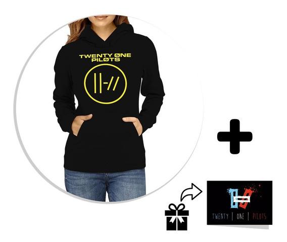 Envío Gratis Sudadera / Hoodie Twenty One Pilots + Sticker