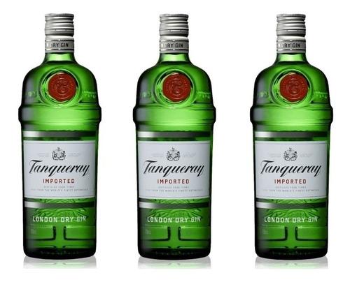 Pack 3 Unidades Gin Tanqueray London Dry 750ml 100%original