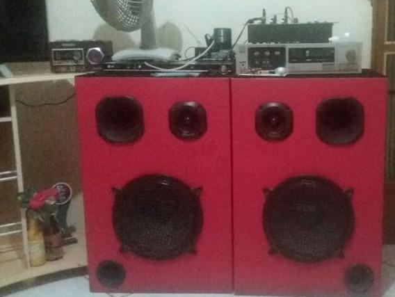 Amplificador Gradiente Ds-20 + Mesa D Som + 2 Caixas Potents