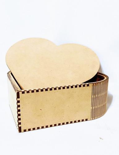 Imagen 1 de 10 de Caja Corazón Bombones San Valentin - Mdf / Fibrofacil