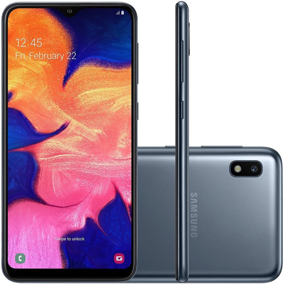 Smartphone Samsung Galaxy A10 32gb Duos 4g Tela 6.2 - Preto