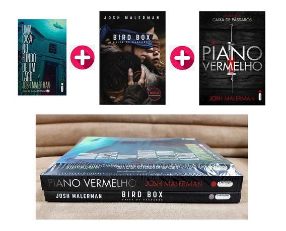 Kit 3 Livros Bird Box Caixa Pássaros Casa Fundo Piano Vermel