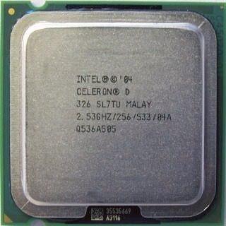 Kit 25 Processador Intel Celeron D 326 / 775 / 2.53/256/533