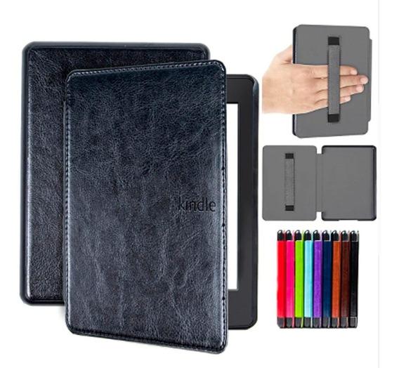 Capa Case Novo Kindle Paperwhite (10ªg)com Alça P/ Mão-preto