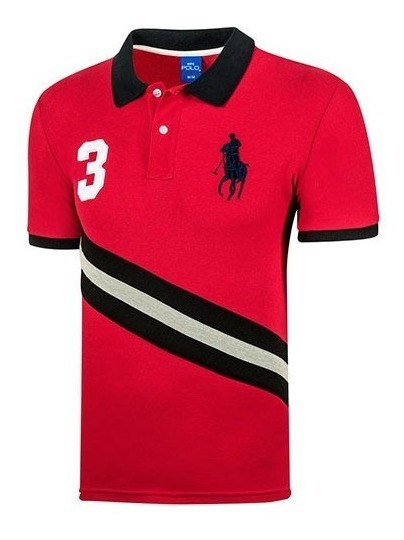 Playera Casual Caballero Polo Hpc 3034-am09 Rojo 89030 T4