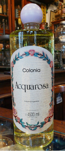 Antiguo Y Gigante Publicid Colonia Acquarosa  4500 Ml. 53036